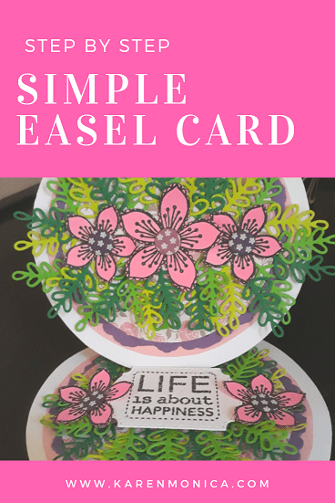 Final Step Circle Easel Card Tutorial