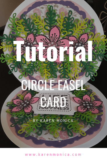 Step 5 Circle Easel Card Tutorial