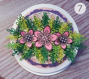 Step Eight Circle Easel Card Tutorial