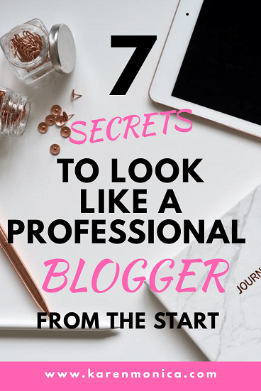 7 Secrets To Look Like A Professional Blogger