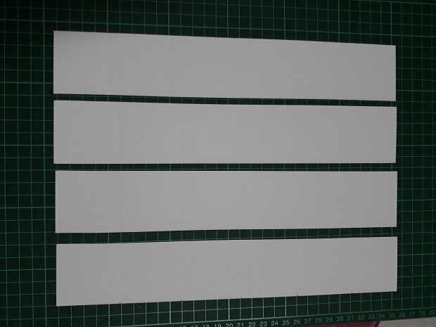 White Card Strips For The Pull Up Accordion Lantern Card