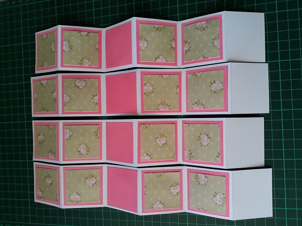 Adding The Patterned Squares To The Accordion Card