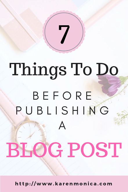 What To Do Before Publishing A Blog Post