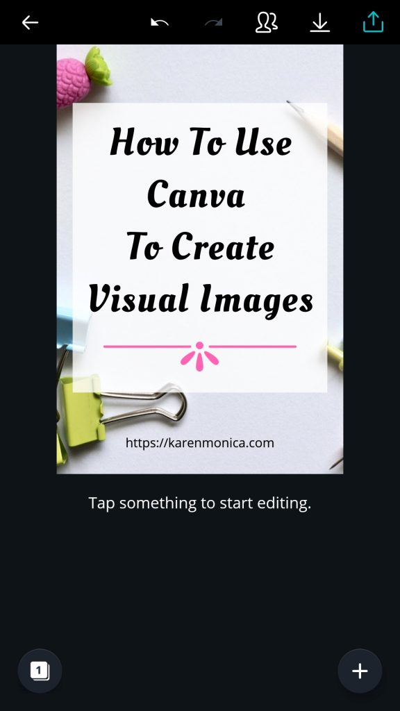 Editing Visual Images On Canva