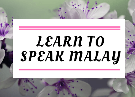Learn To Speak Malay Like A Local - Lesson 1