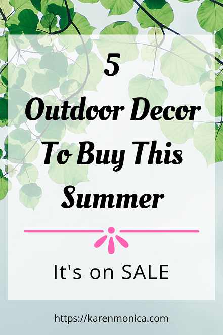 Gorgeous Outdoor Decorations To Buy This Summer
