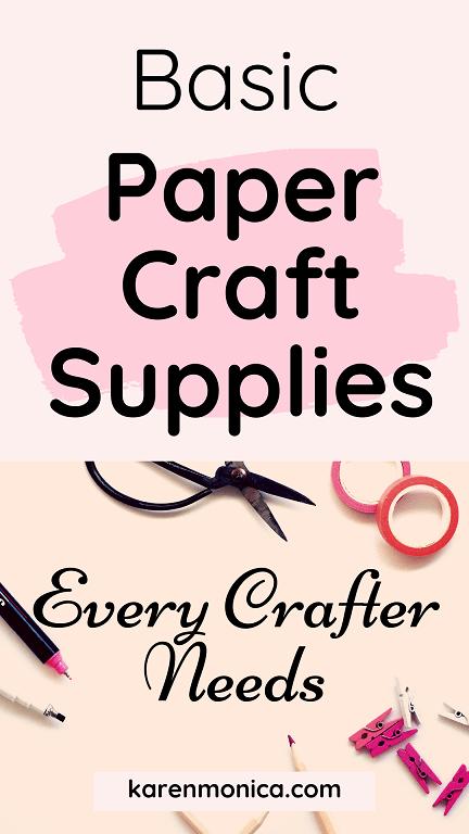 Basic Papercraft Tools Crafter Needs