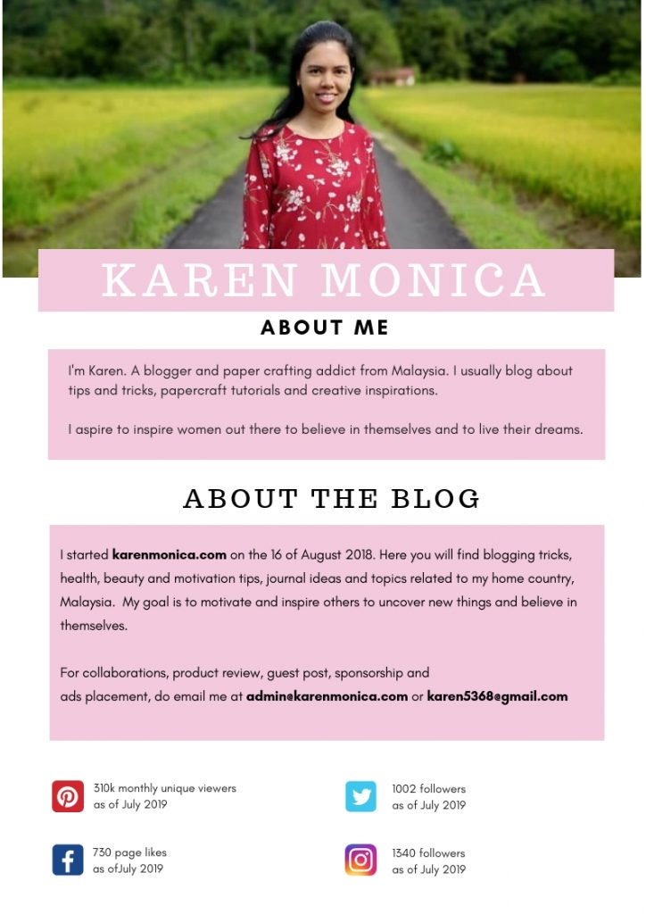 Media Kit For karenmonica.com