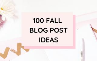 100 Fall Blog Post Ideas