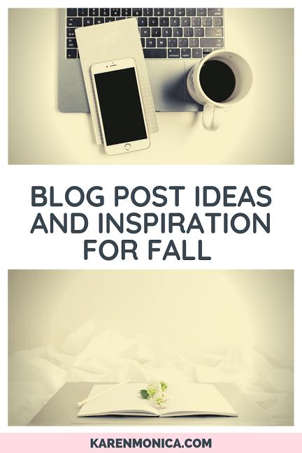 100 Fall blog post ideas for blogtober