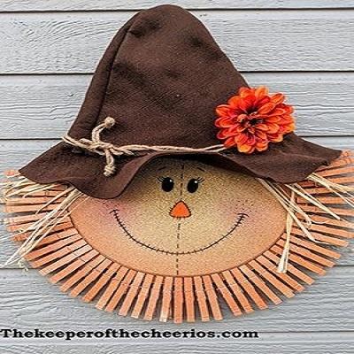 Pizza Pan Scarecrow