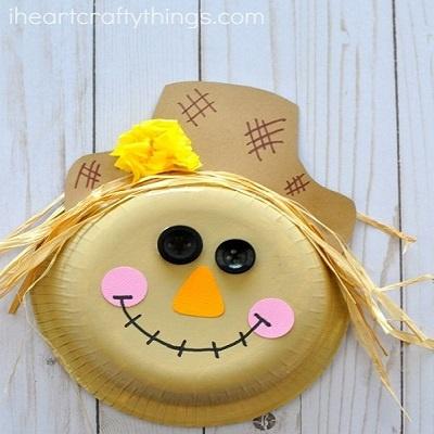 Paper Bowl Scarecrow