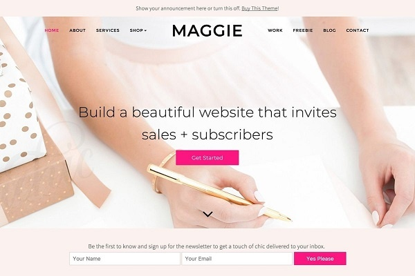 Maggie by Bluechic Responsive Feminine WordPress Theme