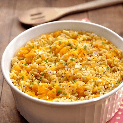 Butternut Squash Orzo With Feta