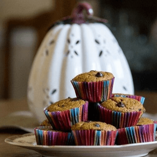 Healthy Pumpkin Muffins With Oats And Chocolate Chips