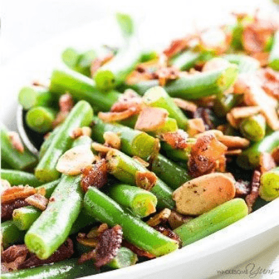Pan Fried Green Beans Almondine With Bacon