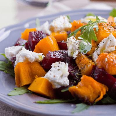 Roasted Pumpkin And Beet Salad