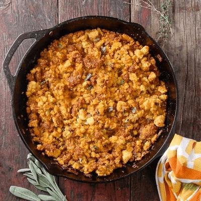 Spicy Chorizo Sage Cornbread