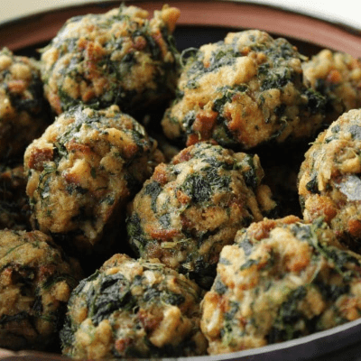 Spinach Stuffing Balls