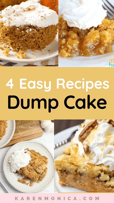 Easy To Make 4 Apple And Pumpkin Dump Cake Recipes For Fall