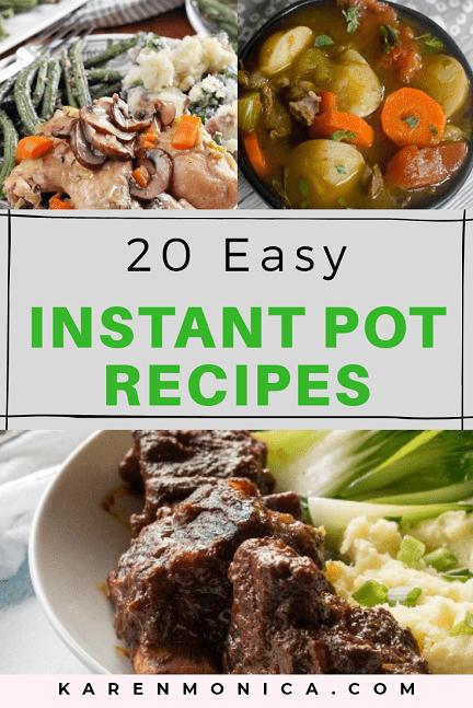 20 Easy Instant Pot Recipes