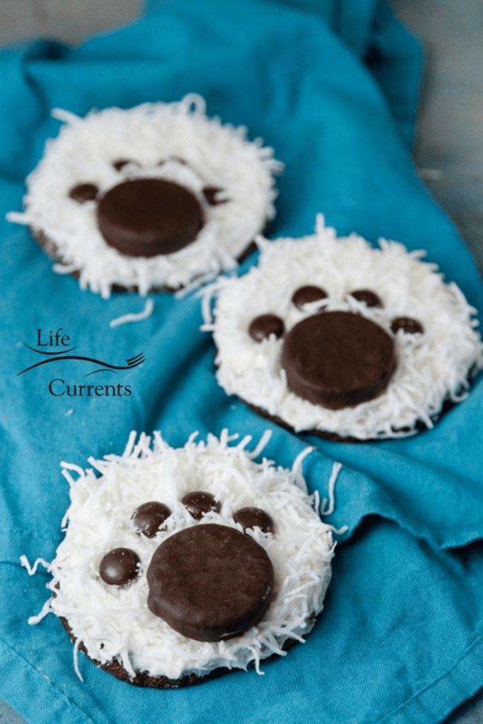 polar bear paw print cookies