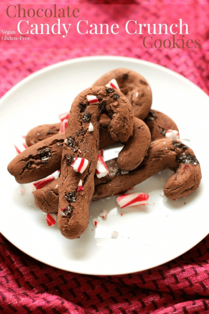 Chocolate candy cane crunch cookies