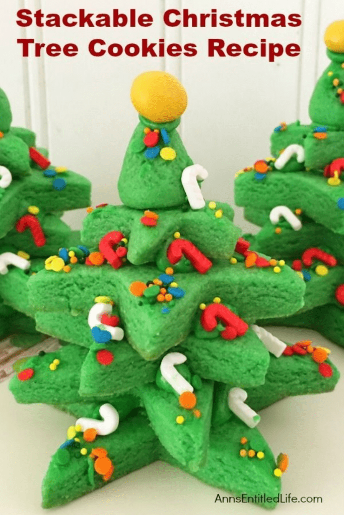 Stackable christmas tree cookies recipe