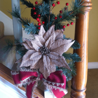 Christmas Decor For Stairs Railing