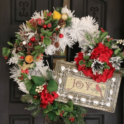 Cranberry Holly Winter White Wreath