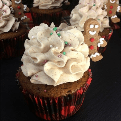 Delicious Gingerbread Men Cupcakes
