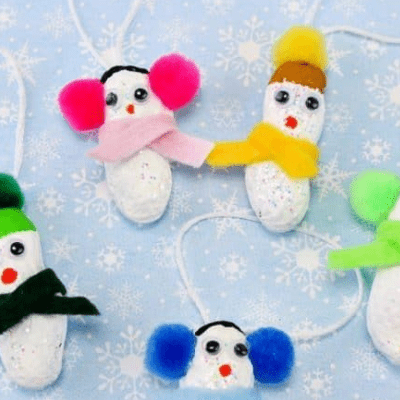 Peanut Snowman Christmas Ornaments
