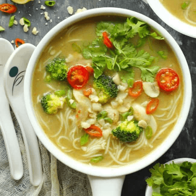 Vegan Thai Green Curry Sour Soup