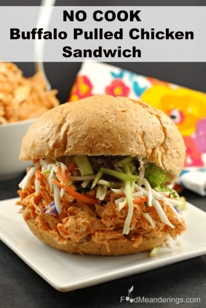 buffalo pulled chicken sandwich