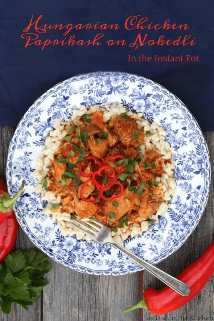 Instant Pot Hungarian Chicken Paprikash recipe