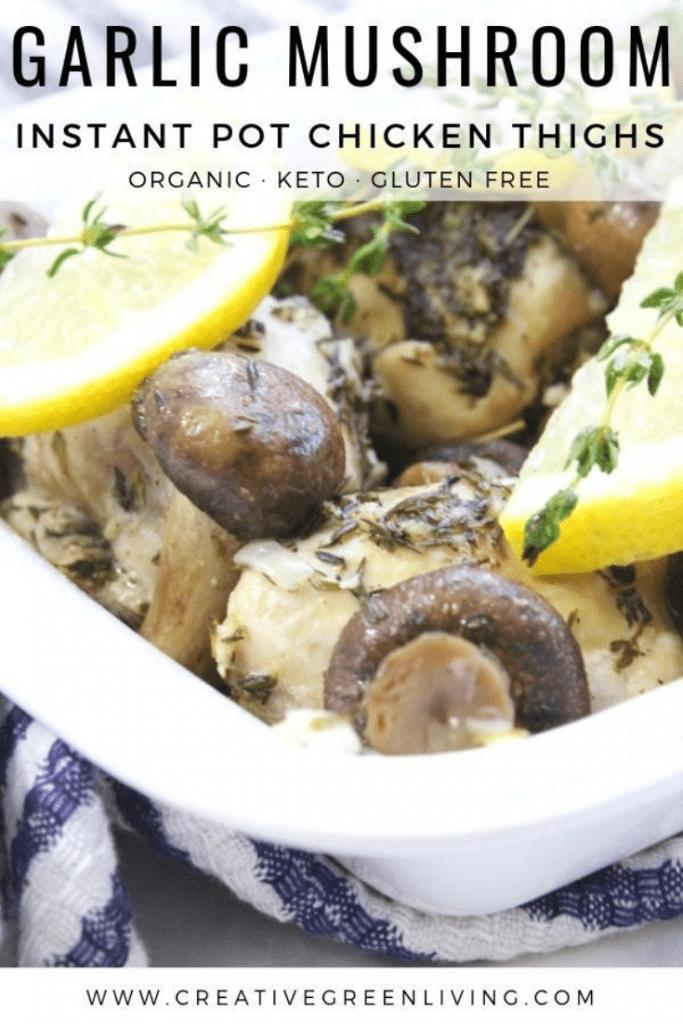 Garlic white wine instant pot chicken recipe