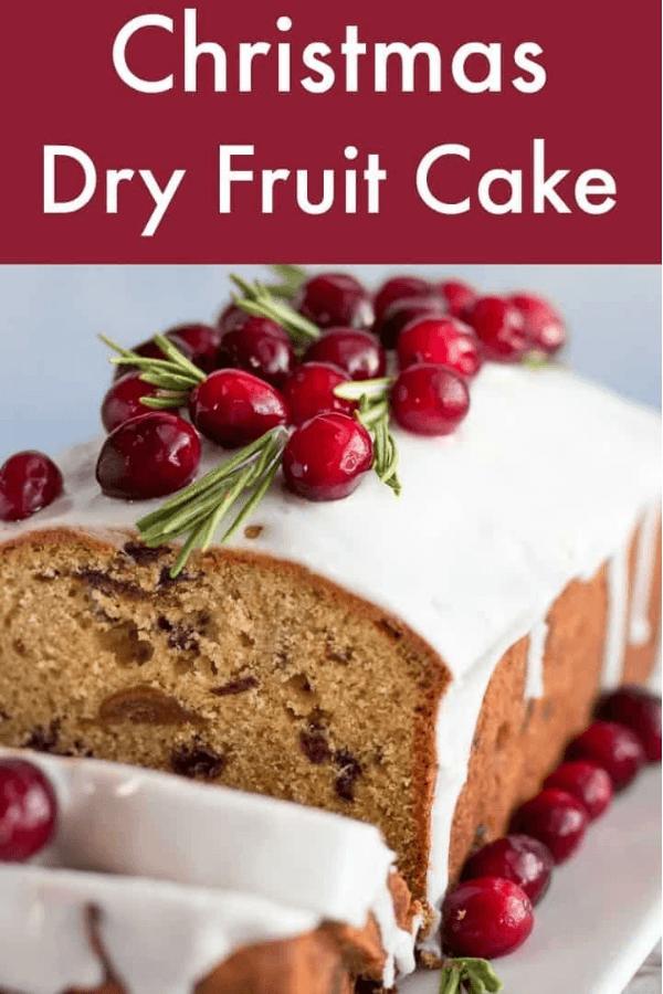 christmas dry fruitcake