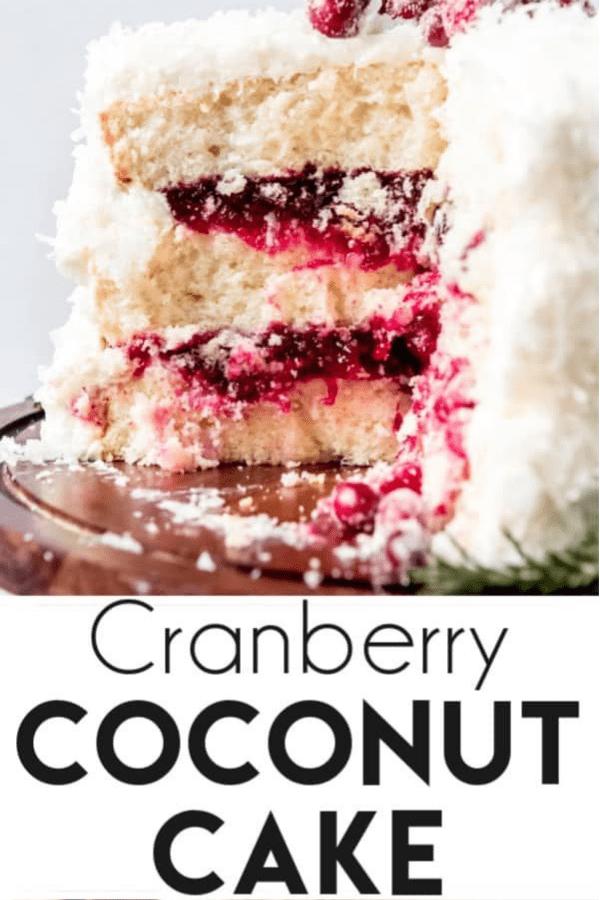 cranberry coconut cake