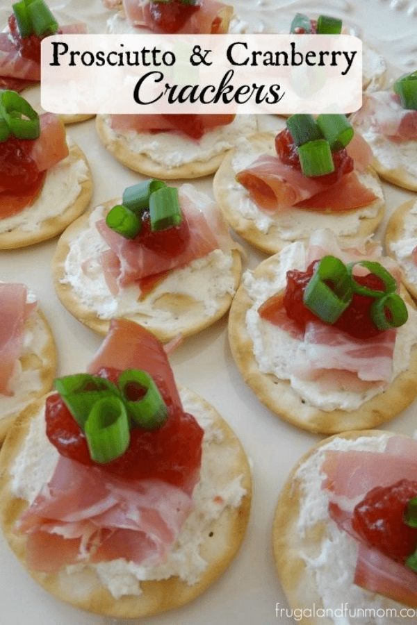 Prosciutto and cranberry crackers