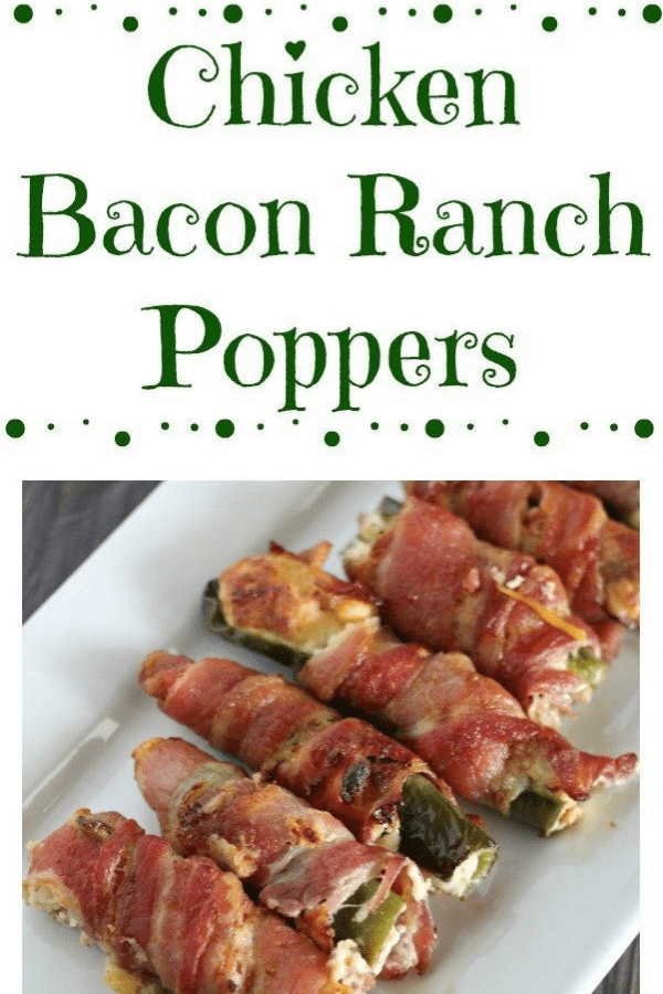 Chicken bacon poppers