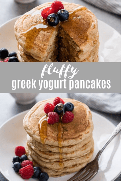 fluffy yogurt pancakes