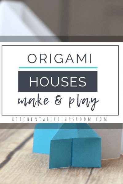 origami paper house