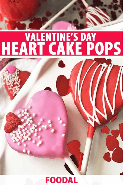 valentine's day heart cake pops