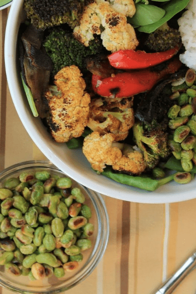 rice bowl with curried vegetables