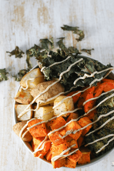 sweet potato vegan buddha bowls