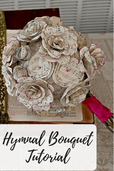 hymnal flower bouquet tutorial