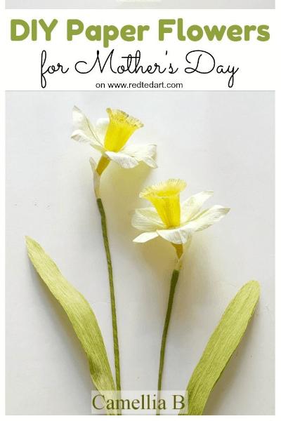 crepe paper daffodils