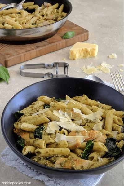 easy chicken with pesto pasta recipe