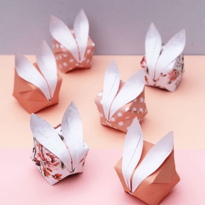 origami Easter bunny rabbits