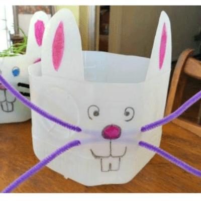 milk jug Easter bunny